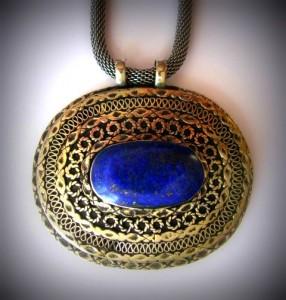 Lapis oval pendant