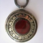 brown glass pendant