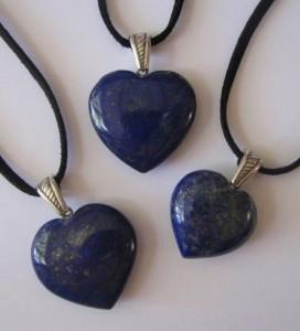 lapis heart pendant